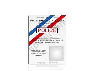carte police specimen