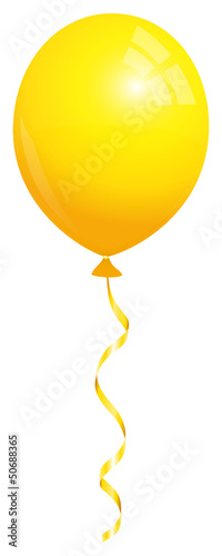 Single Yellow Balloon