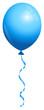 Single Blue Balloon