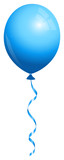 Single Blue Balloon