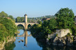 Famous medieval bridge in the old French town Orthez
