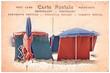 Carte postale ancienne, plage de deauville