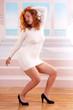 dancing redhead