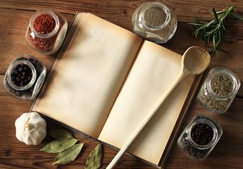 Kochbuch mit Textfreiraum