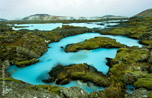 Fotobehang Poolcirkel The Blue Lagoon in Iceland