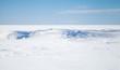 Leinwandbild Motiv Empty winter background landscape. Blue sky, snow