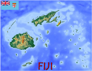 Fiji Islands Oceania national emblem map symbol motto