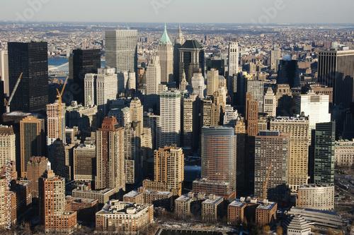 Foto op Aluminium New York New York City Manhattan skyline aerial view with skyscrapers