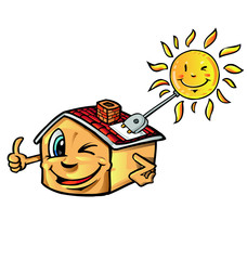 solar house cartoon