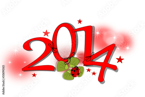 Silvester, Neujahr Karte