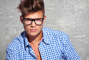 young attractive man in glasses