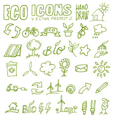 eco icons hand draw 2