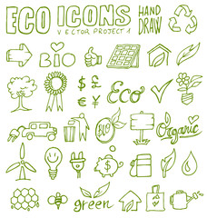 eco icons hand draw 1