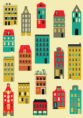 Set of houses.