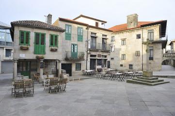 Old town of Pontevedra, Galicia city built of granite, historic