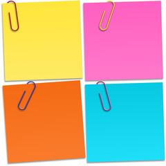 Papeis de diferentes cores