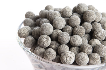 tapioca pearls. white bubble tea ingredients