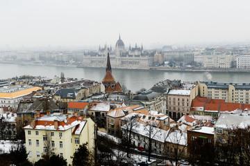 La ville de Budapest en hiver
