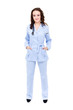 nurse standing isolated in full length