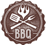 Vintage Barbecue BBQ Stamp