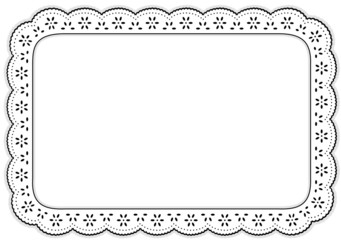 Place mat Eyelet Lace Embroidery home decorating, setting table