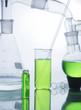 Leinwandbild Motiv Laboratory glassware over white