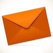 Brown empty vector mail envelope