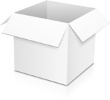 White isolated vector paper box