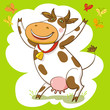 Happy Cow And Butterfly.