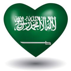 Herz mit Schatten - Saudi-Arabien
