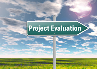 "Signpost ""Project Evaluation"""