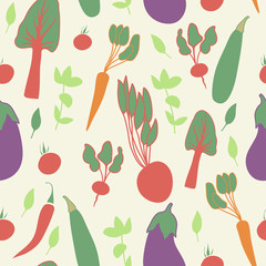 Vegetable seamless pattern