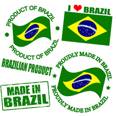 Product of Brazil stamps