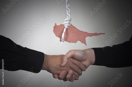 Concept Cyprus financial crisis
