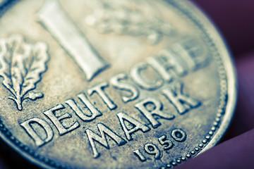 one german mark,macro shot