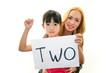 笑顔の外国人教師と女の子