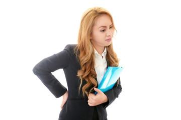 腰痛を訴えるオフィスレディー