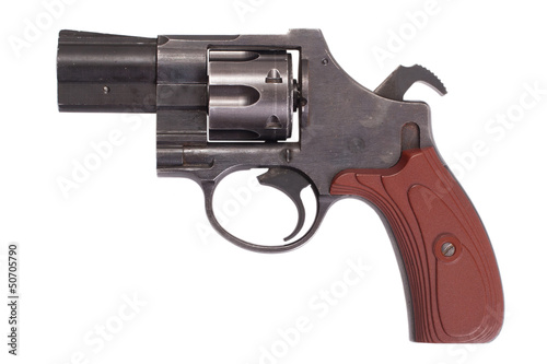 revolver gun isolated on white background
