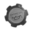 Engine oil cap with warning label isolated on white background - 50706783