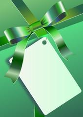 Yeşil hediye paketi