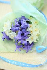 ヒヤシンスの花束