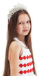 Portrait of charming little girl in crown