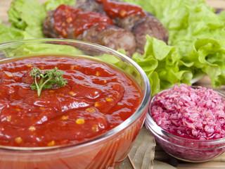 sauce and horse-radish