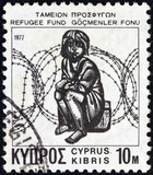 Child in front of barbed wire (Cyprus 1977)