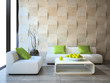 modern interior with concrete wall panels