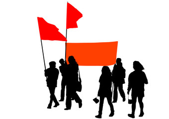 Mans whit red banner