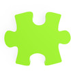 green puzzle on a white background