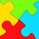 background of colorful puzzle