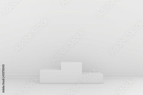 pedestal in a gray interior