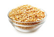Halves peas in a bowl